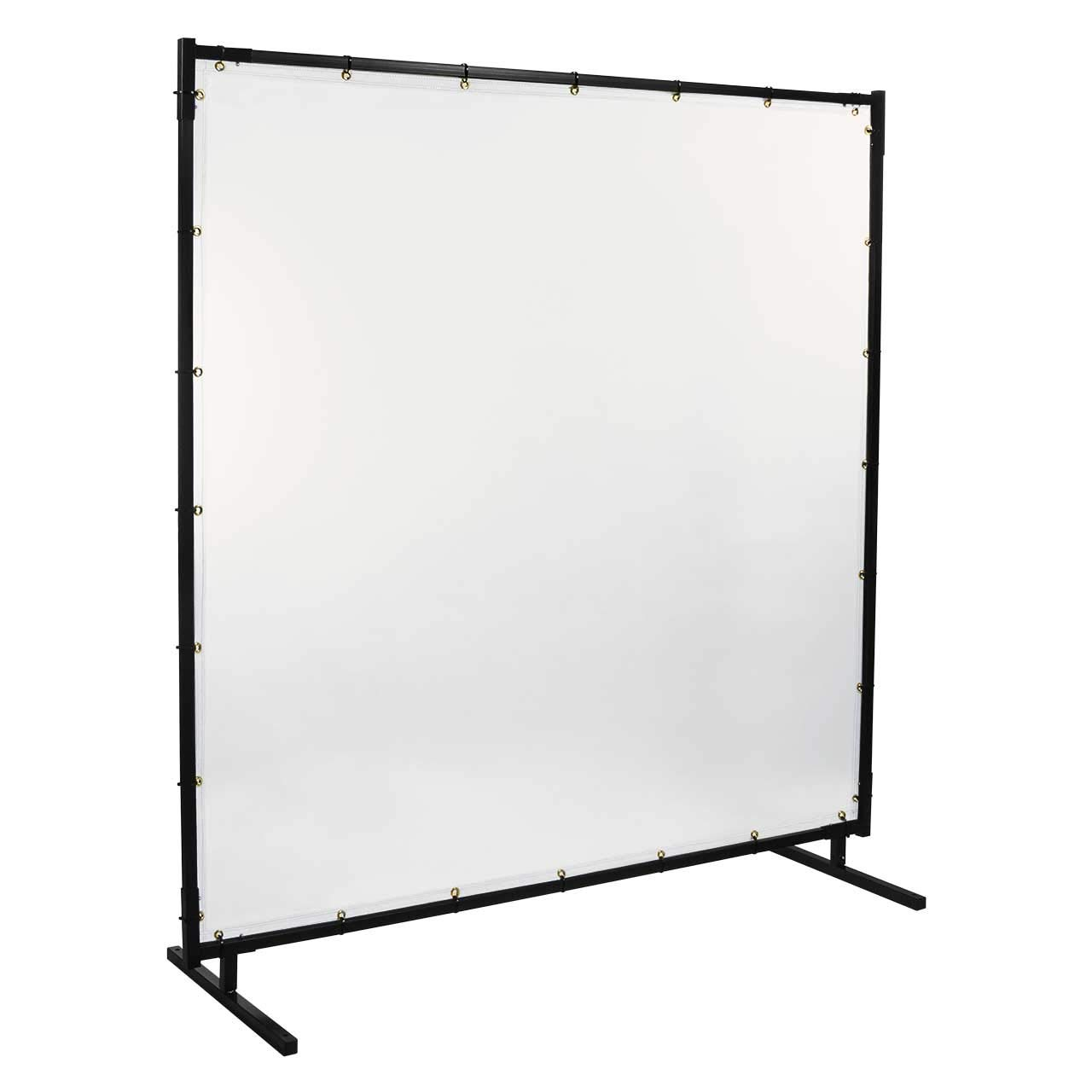 Steiner 539HD-6X6 Protect-O-Screen HD Welding Screen with 16 Mil Vinyl Curtain, Clear, 6' x 6' by Steiner