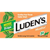 Ludens Throat Drops, Cool Menthol, 20 Count