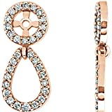 STU001- 14K Rose 1/3 CTW Diamond Earring Jackets