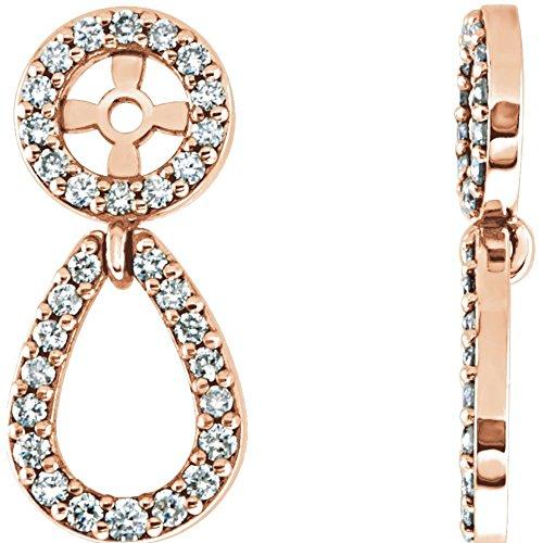 STU001- 14K Rose 1/3 CTW Diamond Earring Jackets by STU001-