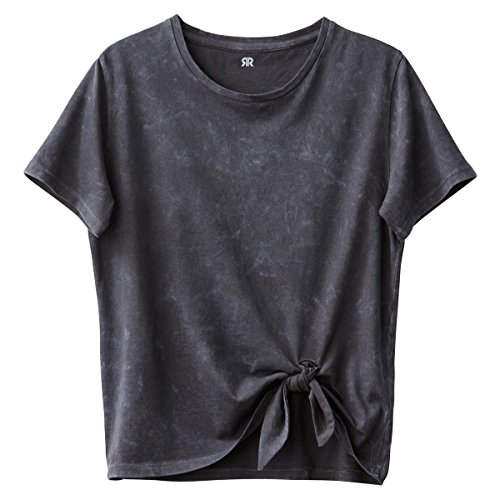 La Redoute Collections Big Girls Tie Front T-Shirt, 10-16 Years Black Size 10 Years - 54 In.
