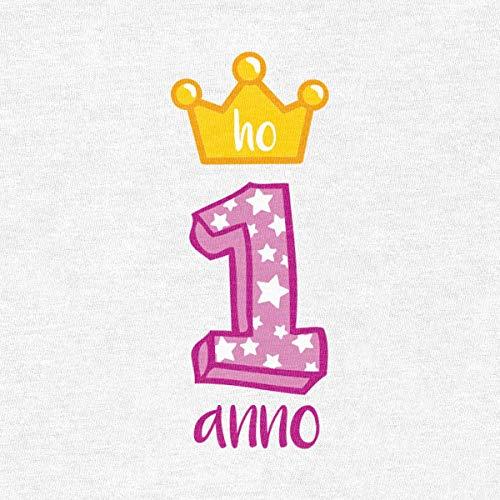 Ho 1 Shirtgeil Da Neonato Anno Compleanno Tutina Principessa Corona Buon Rosa 4r4Et