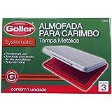 Almofada p/ Carimbo c/ Tinta Azul N.3 Tampa Metal - Goller