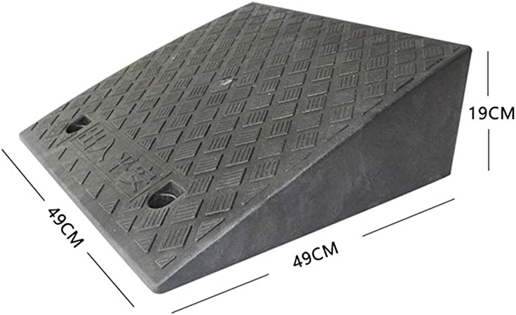 Color : Black, Size : 503815CM Rubber Material Kerb Ramps 11 way bike CSQ-Ramps Triangle Ramps with Water Outlet Portable Black Kerb Ramps Garage Door Ramps Road Slope Ramps