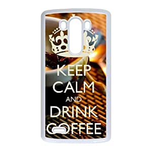 Keep Calm Drink Coffee LG G3 Cell Phone Case White Iufwd