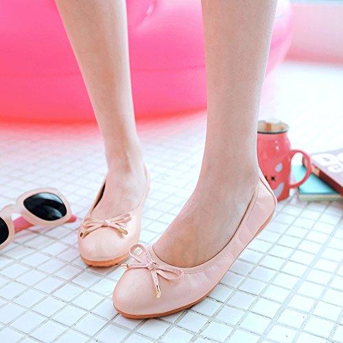 Zapatos Zapatos Soja De Embarazadas De Pink Trabajo Tortillas De De Redonda Mujer Zapatos Una De Cabeza Granos B1 Base GAOLIM De Negro Con Chica Mujer Zapatos Mujeres Plana Zapatos FnIRR8C