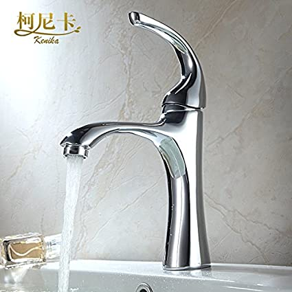 LHbox Basin Mixer Tap Bathroom Sink Faucet All copper single handle single hole hot and cold basin mixer Janitorial & Sanitation Supplies