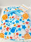 Ball, Baseball, Football, Soccer Ball Soft Baby Blanket