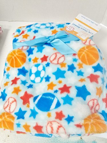 Ball, Baseball, Football, Soccer Ball Soft Baby Blanket