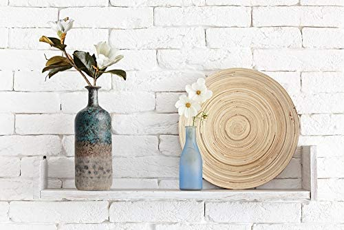 14 Ceramic Vase Rustic Distressed Decorative Vases Indoor and Outdoor Decoration FairyLavie Flower Vase Unique Tabletop Decoration for Home Office and Party Idea