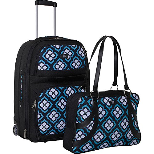 Nuo Chloe Dao 21 Carry On Trolley Satchel Bundle Blue Lotus