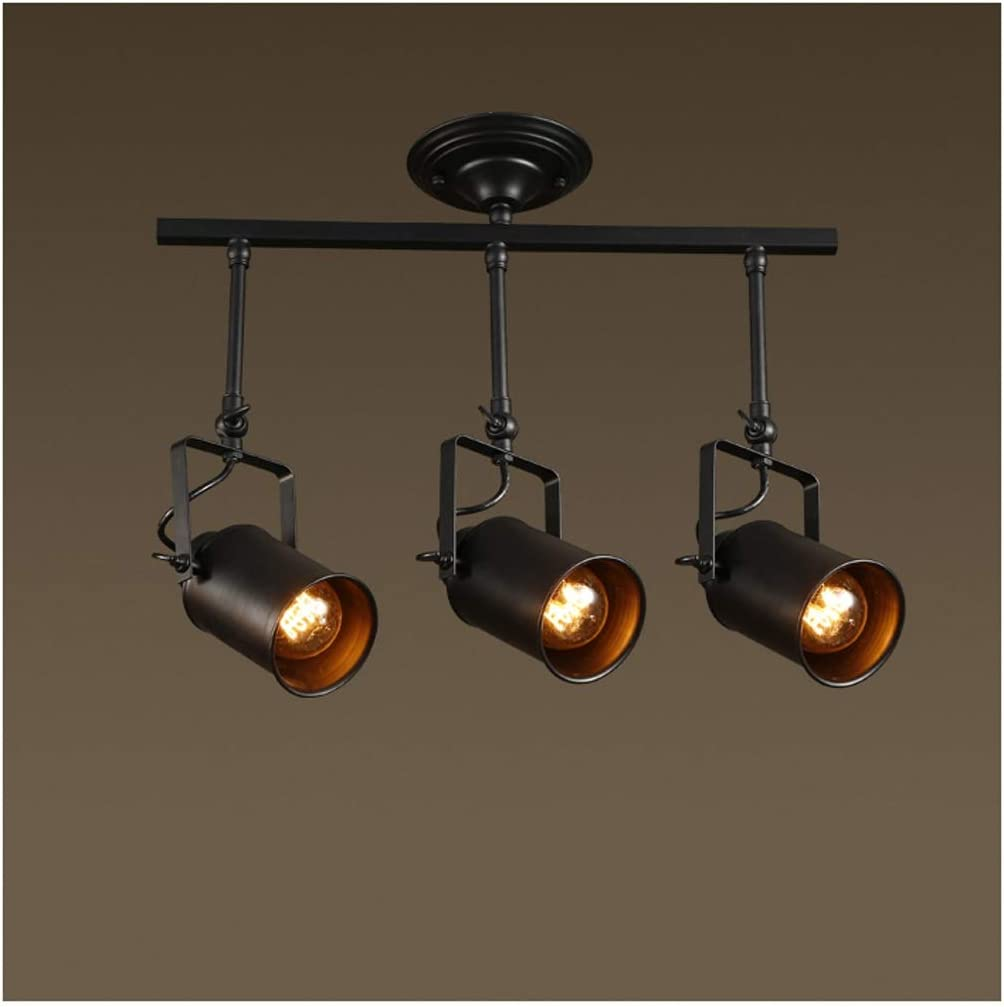 Track Lighting Chandelier | Rustic industrial lighting