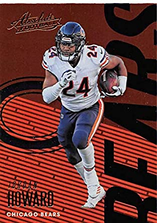 4b251a986cb 2018 Absolute Football #17 Jordan Howard Chicago Bears Official NFL Trading  Card made by Panini