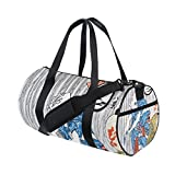 Ukiyoe Ukiyo-E Print Japanese Art Travel Duffel Shoulder Bag ,Sports Gym Fitness Bags