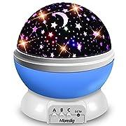 #LightningDeal Moredig Starry Ceiling Night Light Projector,360 Degree Rotating Light Projector with 8 Color Light Change for Kids Baby Children