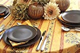 Thanksgiving Tablecloth Stain Resistant Provence Olives Branches in Gold - Rectangular or Oval - You Choose the size and the Shape - French Acrylic Coated Fabric -