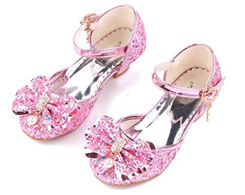 3eb82b7b79 YOGLY Disfraz de Princesa Zapatos de Tacón Alto Fiesta Sandalias para Niñas  Brillante Princesa Zapatilla de