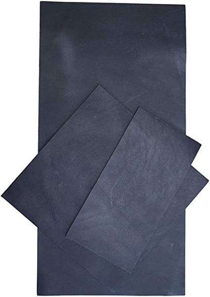 :: Charcoal Black Heavy Weight 1.6-1.8mm for Crafts//Tooling//Hobby Workshop Hide /& Drink 6 x 12 in. // 6 x 6 in. // 3 x 6 in. Rustic Leather Rectangles Variety 3 Piece Set