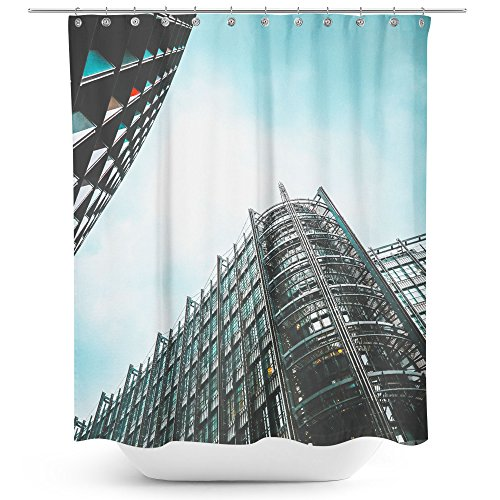 Westlake Art - Building Urban - Fabric Printed Shower Curtain - Picture Photography Waterproof Mildew Resistant Hook Bathroom - Machine Washable 71x74 inch (469C9) -