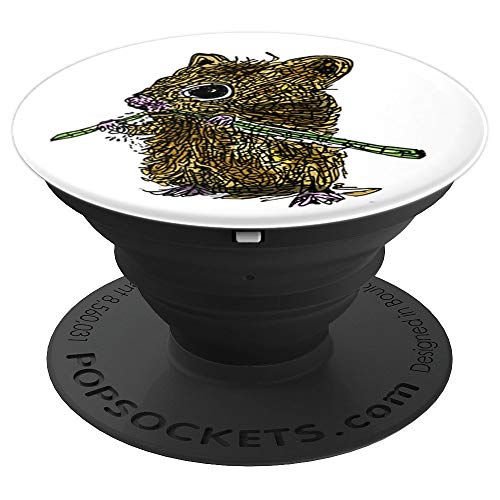 Nibble Mouse - Mouse Wants to Nibble Grass and Your toe - PopSockets Grip and Stand for Phones and Tablets