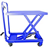 Hu-Lift Equipment TC22P Mobile Scissor Lift Table, 500-Pound Capacity, 9-1/4-Inch to 28-1/2-Inch Height