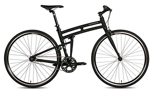 New Montague Boston Folding 700c Pavement Hybrid Bike Matte Black 19 [並行輸入品] B06XFD477X