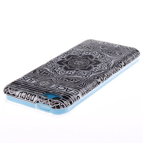 MOONCASE iPhone 5C Case Mode Muster TPU Silikon Tasche Schutzhülle Etui Hülle Schale Case Cover für iPhone 5C -TX03
