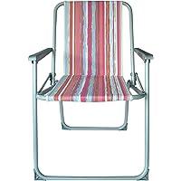 AndOutdoor 9909 Yazlık Sandalye Katlanır Sandalye, Unisex, Çok Renkli, Tek Beden, S, M, L veya XL