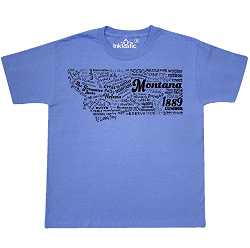 inktastic - Montana State Youth T-Shirt Youth Large (14-16) Columbia Blue 30b41 (Symbol Montana State)