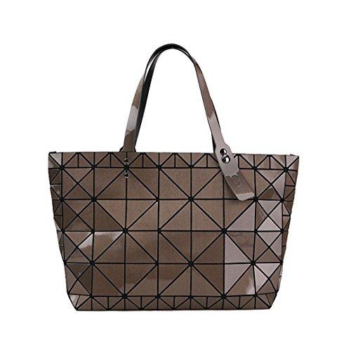 à Designer femmes Brown à Sac Diamants des femelle main géométrique bandoulière Sacs mosaïque tendance Sacs Qualité Argent AgqXx