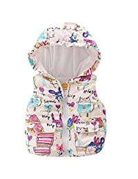 LittleSpring Little Girls' Vest Warm Sleeveless