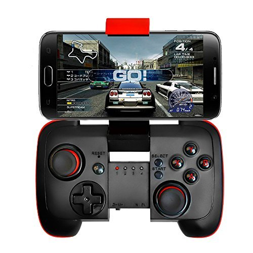 IREALIST Wireless Game Controller Bluetooth Android Phone Game controller with Clip & Shock Vibration Feedback for Android,iPhone,iPad,Tablet PC, Gear VR Games,TV box