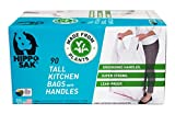 Plant Based - Hippo Sak Tall Kitchen Bags with Handles, 13 Gallon (90 Count)