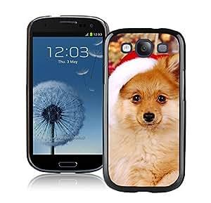 2014 New Style Christmas Cute Dog Black TPU Phone Case For Samsung Galaxy S3,Samsung I9300 Cases hjbrhga1544
