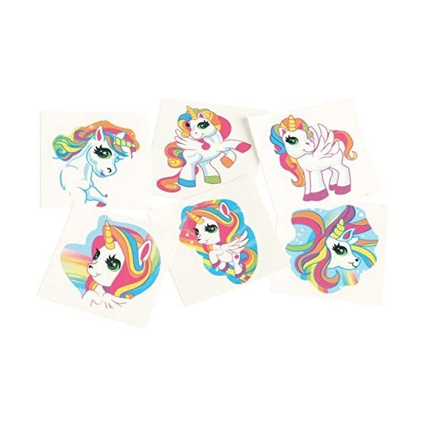 144 - Unicorn Temporary Tattoos 4