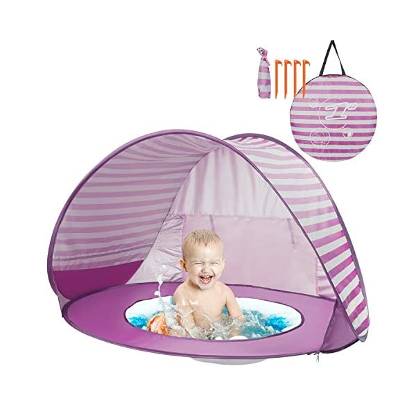 Yalojan Tenda da Spiaggia per Bambini, Pop-up Tenda per Bambini con Piscina per Bambini,Tenda Pieghevole Portatile… 1 spesavip