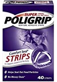 Super Poligrip Comfort Seal Denture Adhesive Strips, 40 Count(Pack of 4)