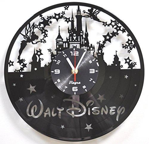 Disney Clock (Disney Vinyl Wall Clock Decorations Art Disney Kids Gift Laser Cut Record Clock Kids Room Decor Vinyl Wall Decal Art Unique Living Room or Bedroom Decor Art)