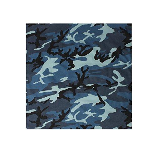 Blue Camouflage Camo (Rothco Bandana, Sky Blue Camouflage, 27'' x 27'')