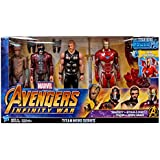 Marvel Avengers Infinity WAR Titan Hero Series Groot, Star-Lord, Thor and Iron Man 4 pack with Power FX