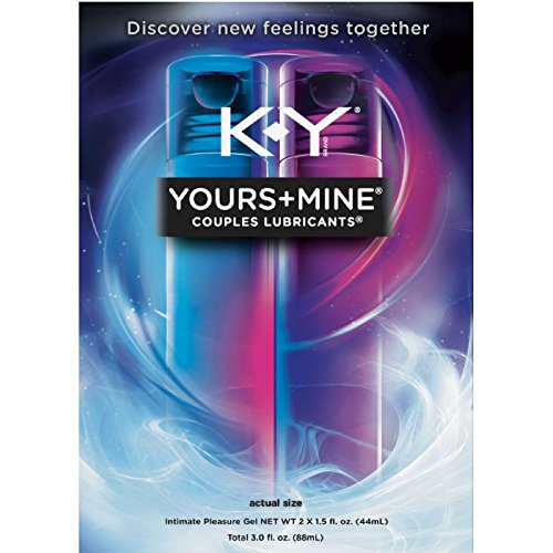 K-Y Yours + Mine Couples Personal Lubricants, 3.0 oz (Pack of 4) by K-Y
