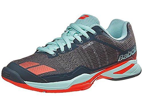 Babolat Women's jet team All Court tennis shoe, Grey/Red/Blue