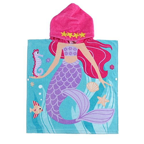 Child 100% Cotton Hooded Towel 24 x 48 inches ()