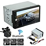 "Lolipp 7"" HD touch screen Double 2 Din In-Dash Car Stereo Support MP5/FM Radio/Bluetooth/USB/TF card /AUX + Parking Camera"