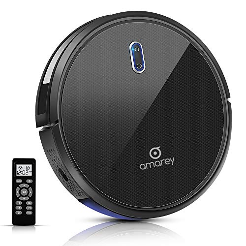 Robot Vacuum - 100mins Long Lasting, Timing Function, Super Strong Suction Robot Vacuum Cleaner, Self-Charging, 2.7inch Super Thin, 4 Cleaning Modes, Robotic Vacuums for Pet Hair, Hard Floor, Carpet
