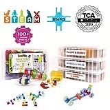 Brackitz STEAM Education Center | STEM Construction Building Block Toy | Sensory Learning Toys for Children PreK-6 | 1224 Pc Set