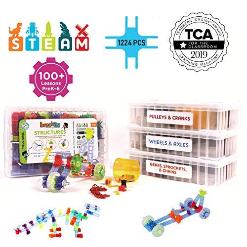 Brackitz STEAM Education Center | STEM Construction Building Block Toy | Sensory Learning Toys for Children PreK-6 | 1224 Pc Set by Brackitz (Image #9)