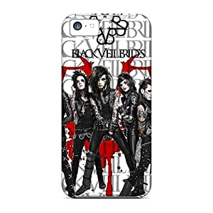 Tpu Shockproof/dirt-proof Black Veil Brides Cover Case For Iphone(5c)