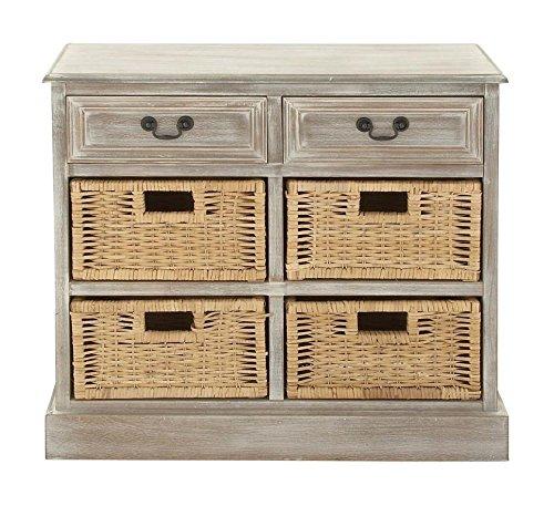 Rustic Nine Drawer Dresser (Deco 79 96285 Wood 4 Basket Dresser, 30