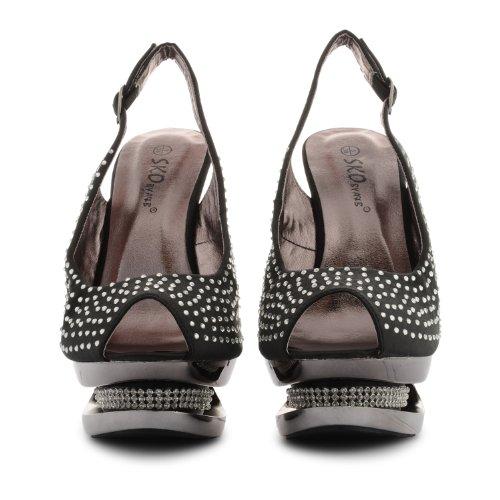 Footwear Sensation - Zapatos destalonados mujer negro - negro